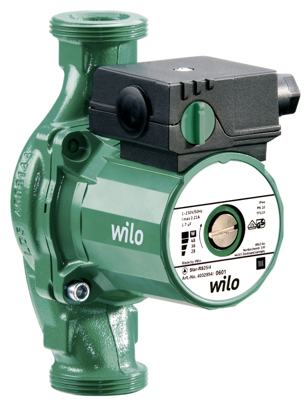 Насос циркуляционный WILO Star-RS 30/4, с гайками - купить в Тюмени