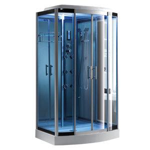 COMFORTY 35 стекло голубое, задняя зеркальная панель, 1200*850*2180