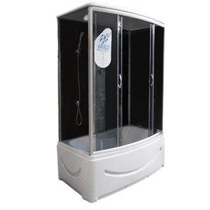 FARO 470 стекло серое, задняя черная стеклянная панель 1450*850*2200