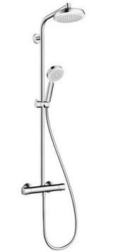 Смеситель с термостатом HANSGROHE Crometta 160 Showerpipe термостат д/душа 27264400 - купить в Нижневартовске