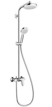Смеситель с термостатом HANSGROHE Crometta 160 Showerpipe термостат д/душа 27266400 - купить в Нижневартовске