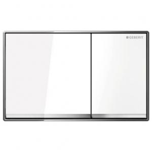 Geberit 115.081.SI.1 смывная клавиша OMEGA60  (белое стекло) - купить в Екатеринбурге