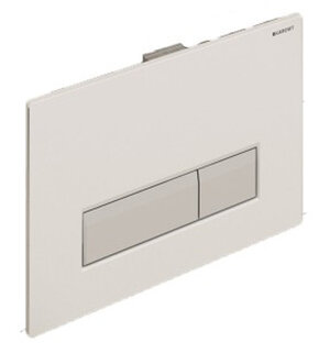 Geberit 115.600.KQ.1 смывная клавиша SIGMA 40 (белый/алюминий) - купить в Челябинске
