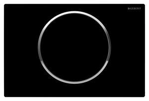 Geberit 115.758.KM.5 смывная клавиша SIGMA 10 (черн/хром гл)