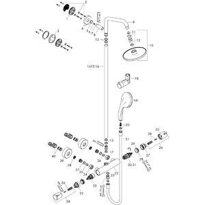 Смеситель с термостатом HANSGROHE Croma Showerpipe 160 27135000 - купить в Екатеринбурге