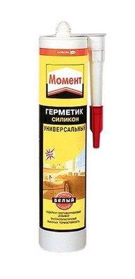 Henkel МОМЕНТ Герметик универсальный силиконовый, белый 280 мл