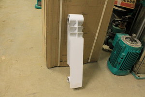 Радиатор OPTIMAL 350-1 секц. (140 Вт) Royal Thermo (царапины и потертости краски), УЦЕНЕННЫЙ ТОВАР