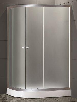 Душевой уголок LORANTO CS-1285 SK low L 100*80*195(NEW) стекло 4мм, низ. поддон 14 см - купить в Перми