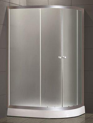 Душевой уголок LORANTO CS-1285 SK low R 100*80*195(NEW) стекло 4мм, низ.поддон 14 см - купить в Перми