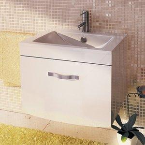 COMFORTY Лаура-75-1 подвесная белый с раковиной Quadro
