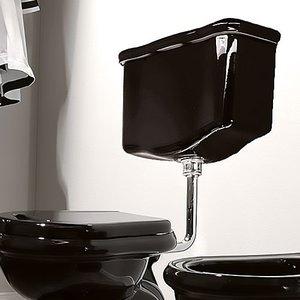 Kerasan 108204 Retro настенный низкоуровневый, цвет черный