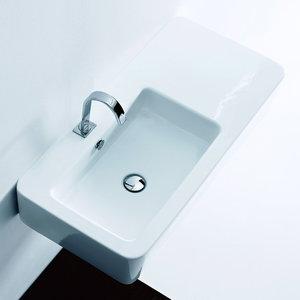 Kerasan 3244 EGO чаша расположена ассиметрично 90X43 см.