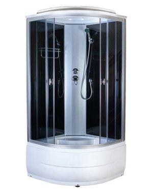 Aquapulse 4101D,800*800*2200мм высокий  поддон (grey black)