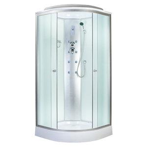 Aquapulse 4121B 800*800*2200мм низкий поддон (fabric white)