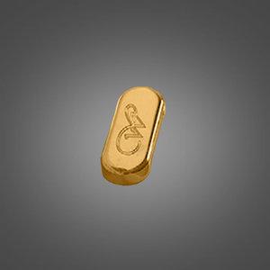 Kerasan 811391 Waldorf Алюминиевая крышка на переливное отверстие, золото