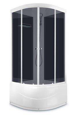 Domani-Spa Delight 99 high (90х90х218 см), Выс.поддон, Черные стенки, Тонир., стекло