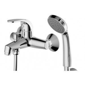 Смеситель для ванны Bravat 7F6135188CP-B-RUS FIT с коротким изливом + шланг/душ (00181018) - купить в Екатеринбурге