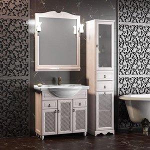 Комплект мебели OPADIRIS с зеркалом Тибет 80, Белый - купить в Екатеринбурге