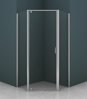 AZARIO AZ-112P 100*100*200 хром, 5мм прозрачное стекло
