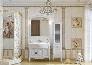 OPADIRIS с зеркалом Лоренцо 100, Белый