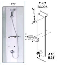 Triton Душевой набор ЭКО В3005