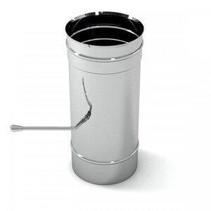 Ferrum Заслонка (шибер поворотный) нержавеющая (430/0,8мм) ф150