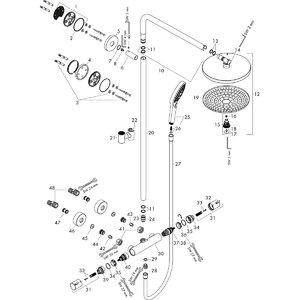 HANSGROHE Raindance Select Showerpipe S300 2 jet 27133000