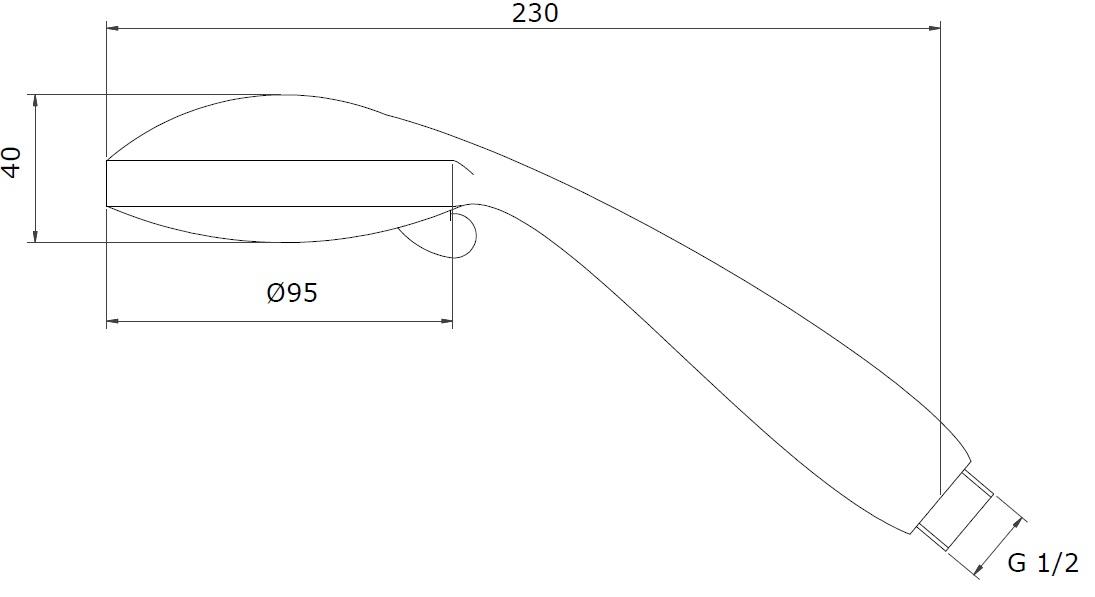 Zipponi ECO-CHIC Душевая лейка 01465CRW - купить в Челябинске