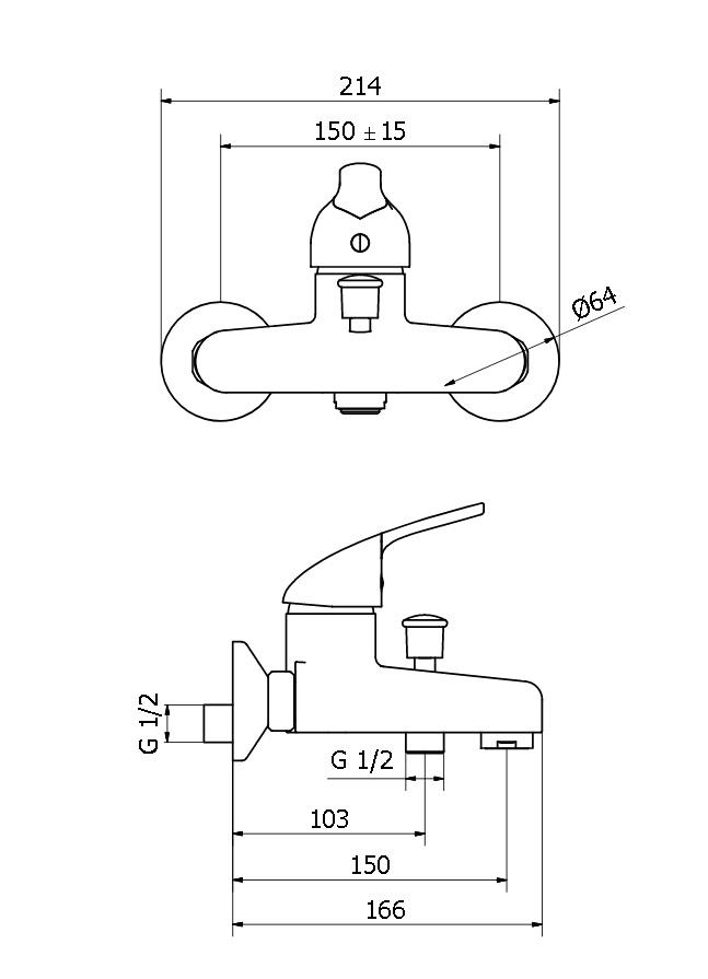 Смеситель для ванны Zipponi ARA  AA102CR-002 - купить в Екатеринбурге