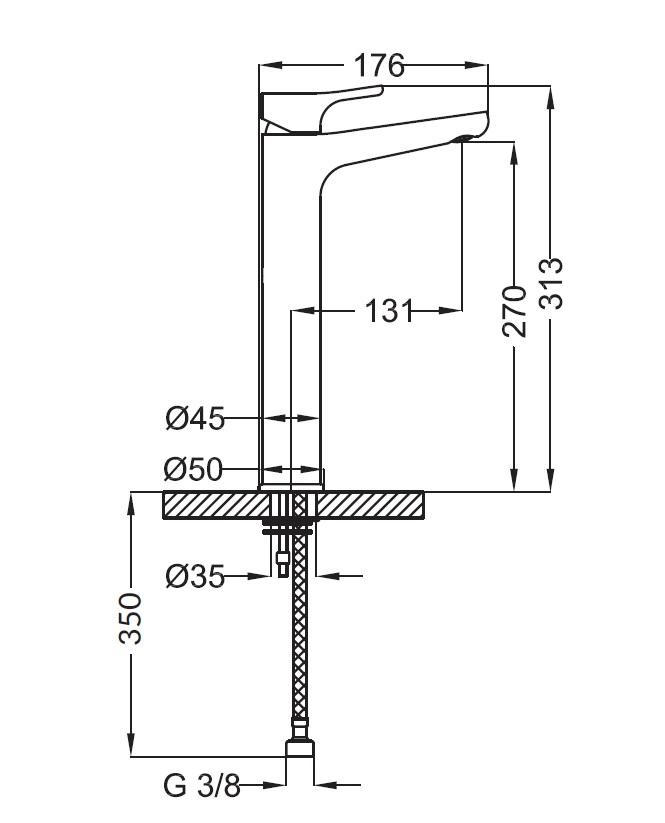 Смеситель для раковины Zipponi DAILY высокий DL341CR-051 - купить в Перми