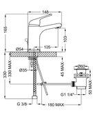 Смеситель для раковины Zipponi ARA средний AA331CR-051 - купить в Тюмени