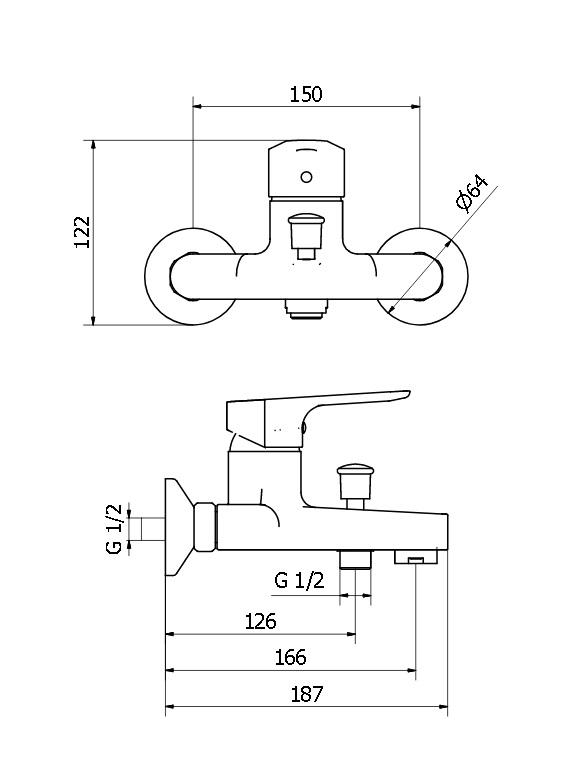 Смеситель для ванны Zipponi ZEN ZN150CR-001 - купить в Перми