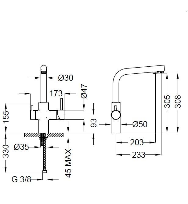 Смеситель для кухни Zipponi CU504CR-002 с выходом для питьевого фильтра - купить в Екатеринбурге