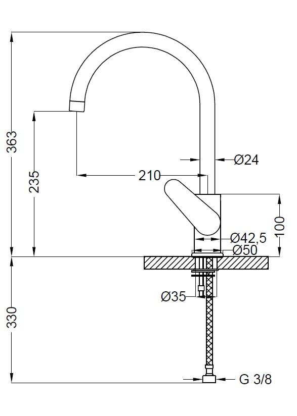 Смеситель для кухни Zipponi STARS SY564CR-052 - купить в Тюмени