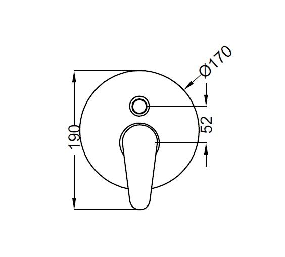 Смеситель для душа Zipponi ZEN Накладная декоративная панель ZN017CR-001 - купить в Екатеринбурге
