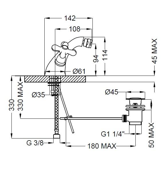 Смеситель для биде Zipponi MONET 2MN430CR-051 - купить в Перми