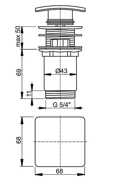 ALCA PLAST Водослив для умывальника click/clack 5/4 A393 - купить в Перми