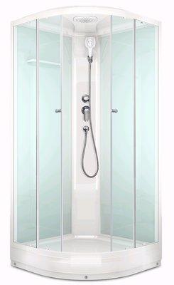 Domani-SPA Domani-Spa Delight 88, низкий поддон, светлые стенки, прозрачное стекло, размер 80*80*218см