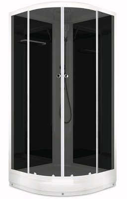 Domani-SPA Delight 88 (80х80х218см), Низ.поддон, Черные стенки, Тонированное стекло