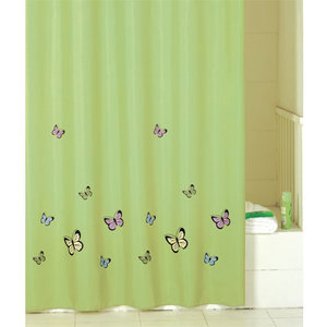 IDDIS Green Butterfly Штора для ванной комнаты SCID032P
