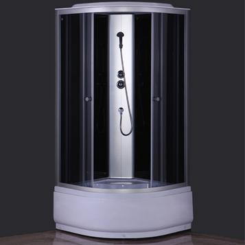 Душевая кабина COMFORTY 300, серое стекло,задн.,черн.,стекл.панель,900*900*2150 - купить в Тюмени