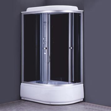 Душевая кабина COMFORTY 302L, серое стекло, задн.черн.стекл.панель,1200*800*2150 - купить в Тюмени