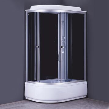 Душевая кабина COMFORTY 302R, серое стекло, задн.черн.стекл.панель,1200*800*2150 - купить в Екатеринбурге