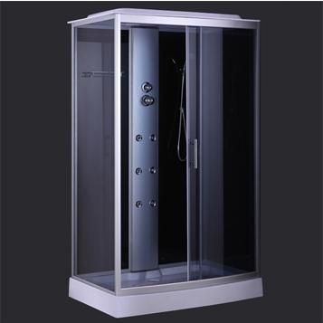 Душевая кабина COMFORTY 303, серое стекло,задн.,черн.,стекл.панель,1200*800*2150 - купить в Екатеринбурге