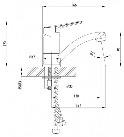 Смеситель для раковины Smartsant Рокет SM323509AA - купить в Екатеринбурге
