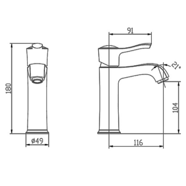 Смеситель для раковины Smartsant Винтаж SM263506GL - купить в Тюмени