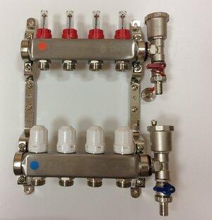 TAEN 1x3/4x4 вых. в СБОРЕ (нерж.сталь) (расходомеры, регул.клапаны, воздухоотводчик, слив.кран, кронштейн-2 шт.)