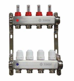 TAEN 1x3/4x4 вых. с расходомерами и регулир.клапанами (нерж.сталь)