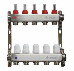 TAEN 1x3/4x5 вых. с расходомерами и регулир.клапанами (нерж.сталь)