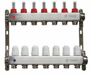 TAEN 1x3/4x7 вых. с расходомерами и регулир.клапанами (нерж.сталь)